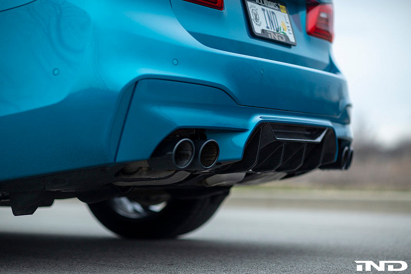 BMW f90 m5 black chrome exhaust tips - iND Distribution
