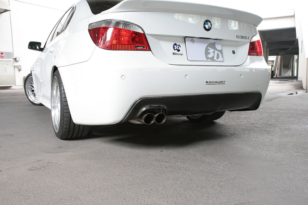 3d design e60 e61 m sport carbon fiber rear diffuser - iND Distribution