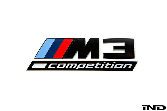 IND F80 M3 Competition Gloss Black Trunk Emblem  2