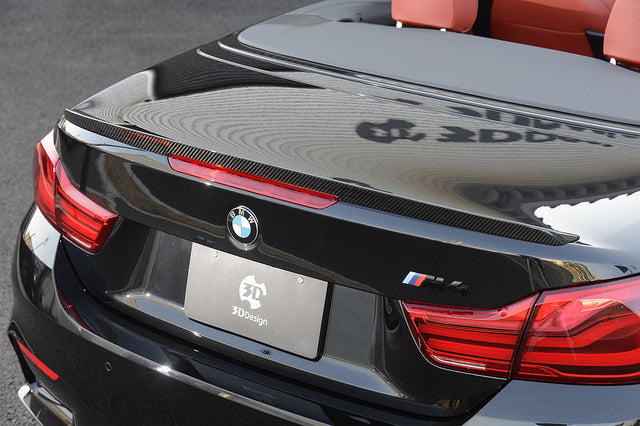 3d design f83 m4 convertible dry carbon trunk spoiler - iND Distribution