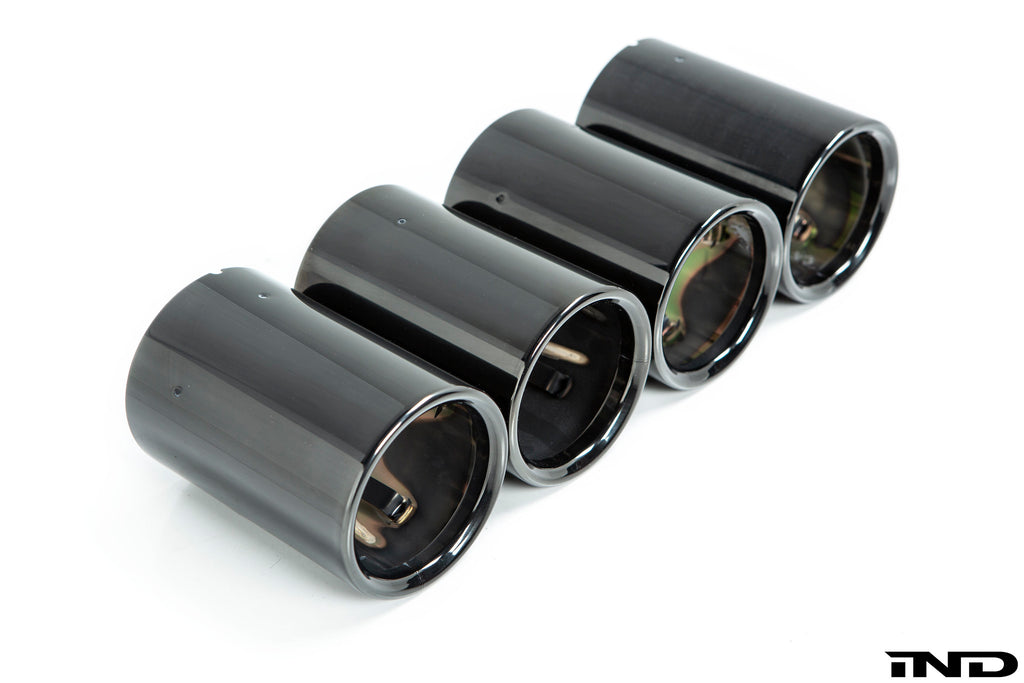 BMW m Performance f87 m2 black chrome exhaust tip set - iND Distribution