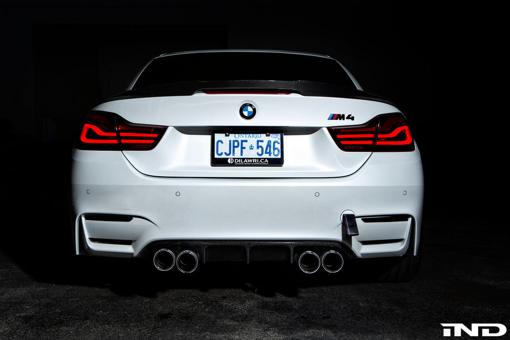 RKP f83 m4 convertible carbon fiber trunk spoiler - iND Distribution