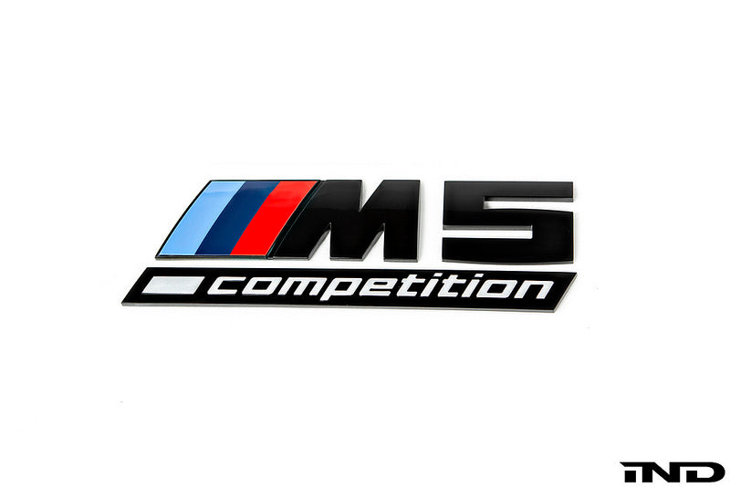 BMW OEM f90 m5 gloss black competition trunk emblem - iND Distribution