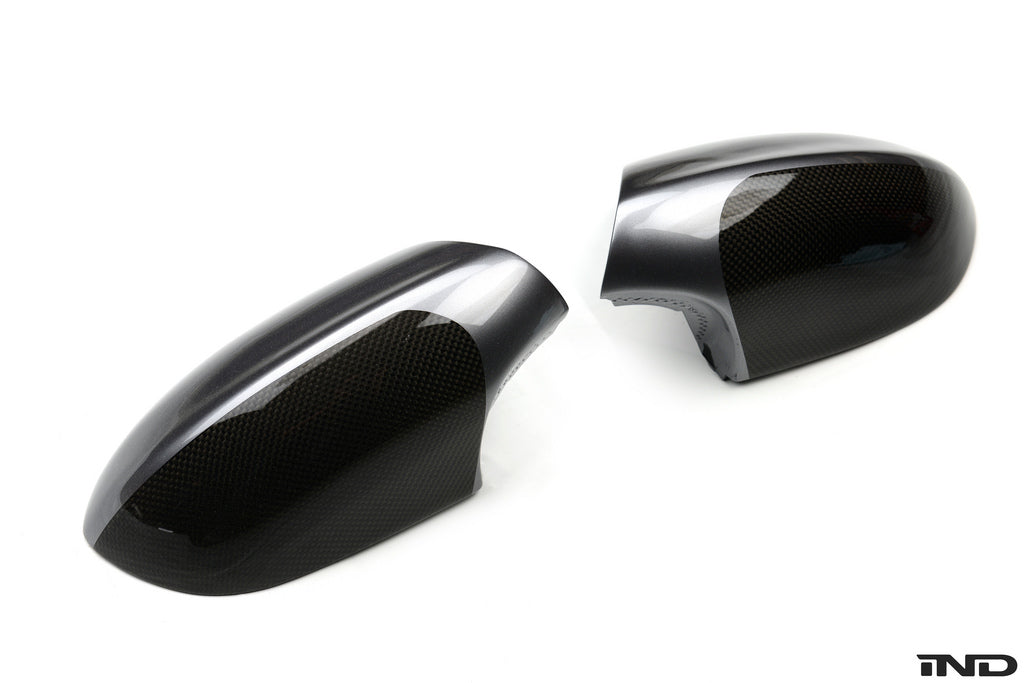 BMW Performance Carbon Fiber Mirror Covers with M5 Paint Scheme 2