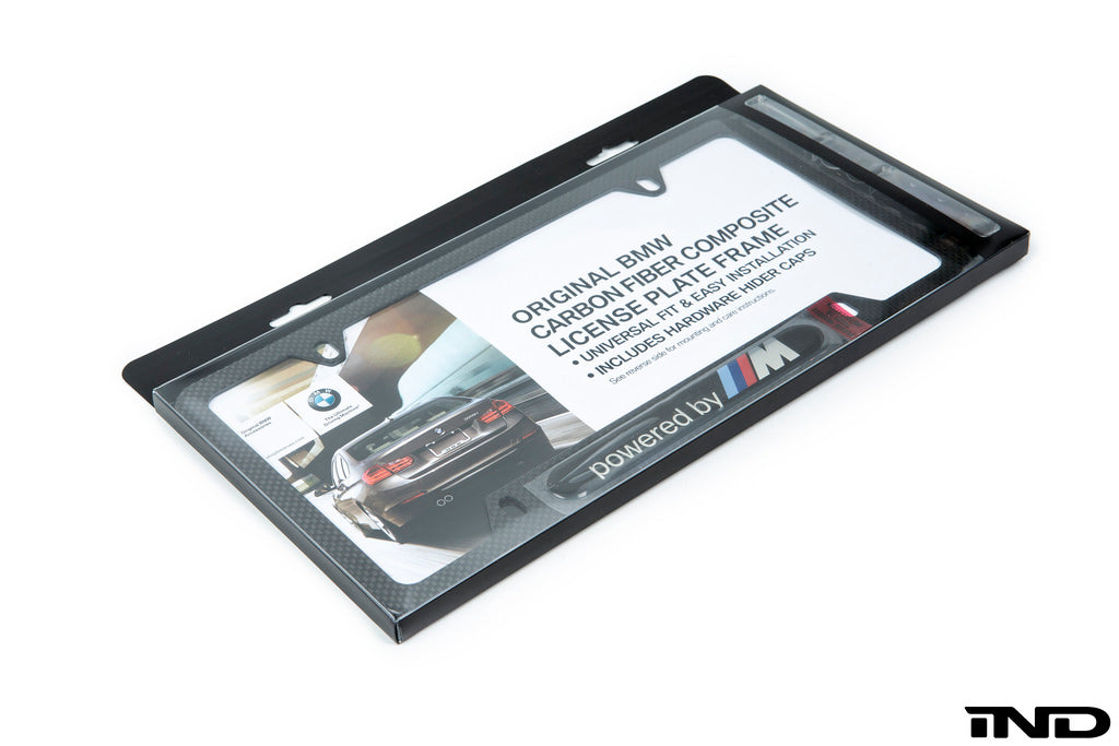 BMW Powered By ///M Carbon Fiber License Plate Frame 1