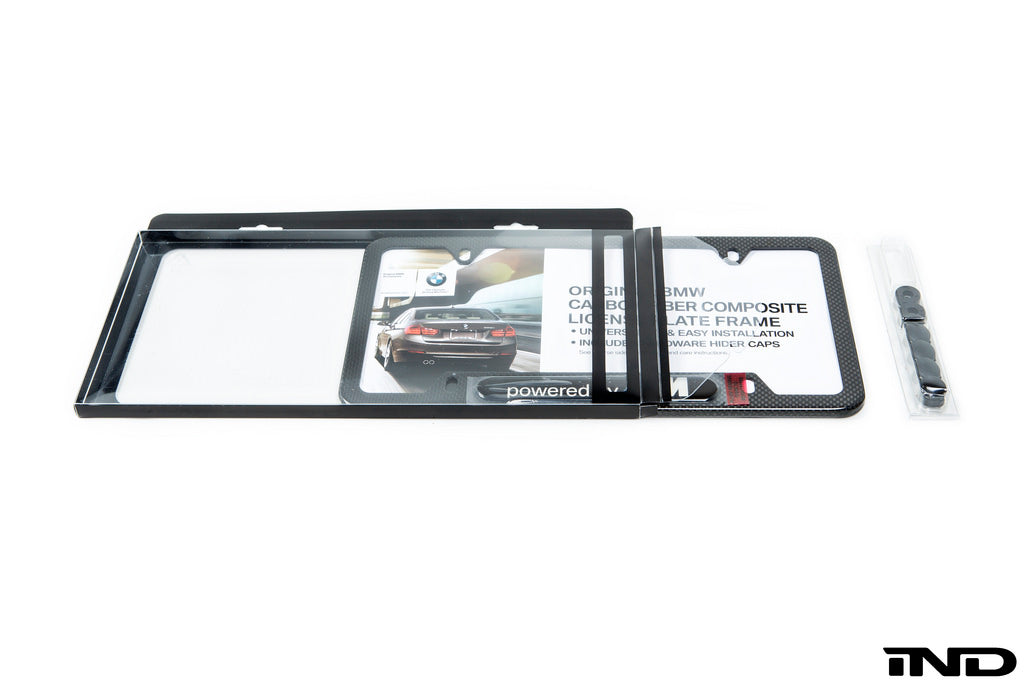 BMW Powered By ///M Carbon Fiber License Plate Frame 4