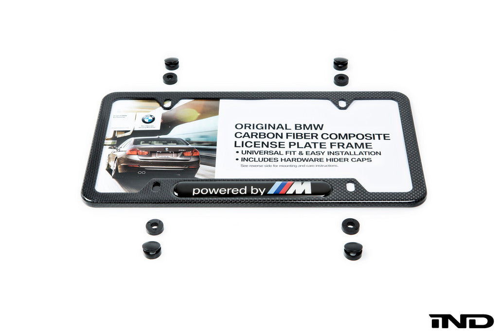 BMW Powered By ///M Carbon Fiber License Plate Frame 5
