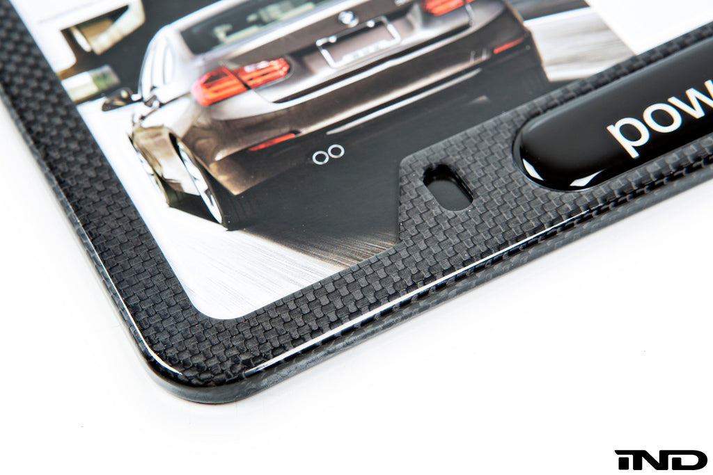 BMW Powered By ///M Carbon Fiber License Plate Frame 7