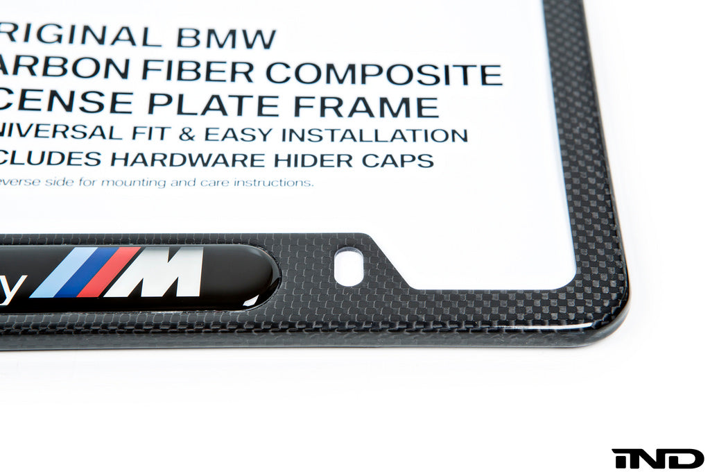 BMW Powered By ///M Carbon Fiber License Plate Frame 8