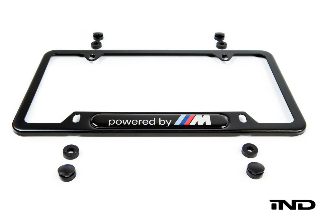 BMW powered by m license plate frame - iND Distribution