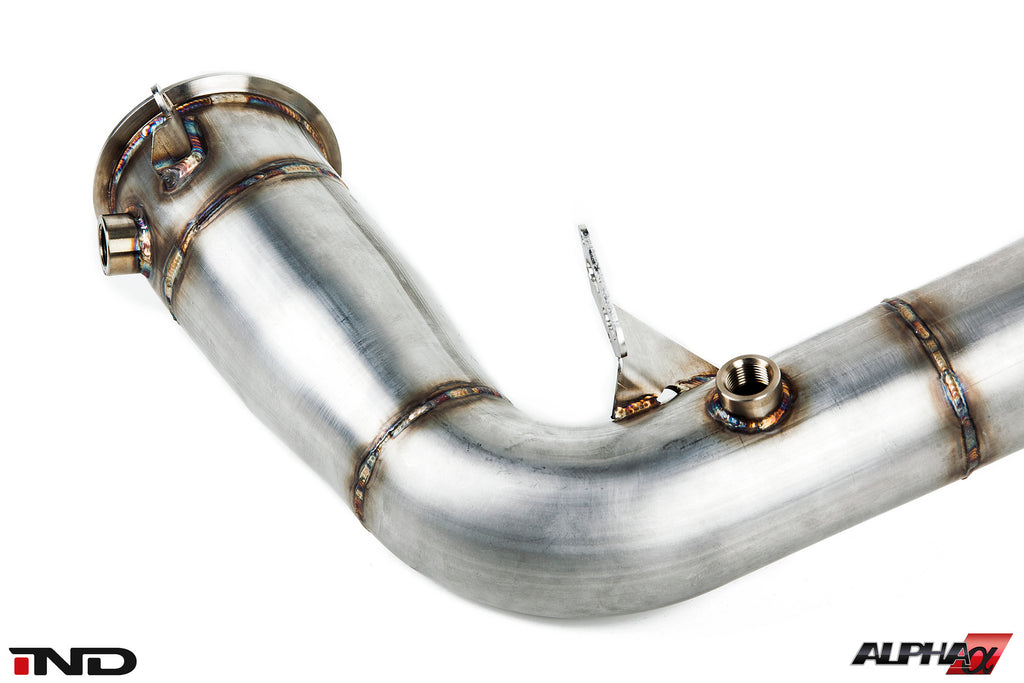 AMS Alpha S63TU Stainless Downpipes 10