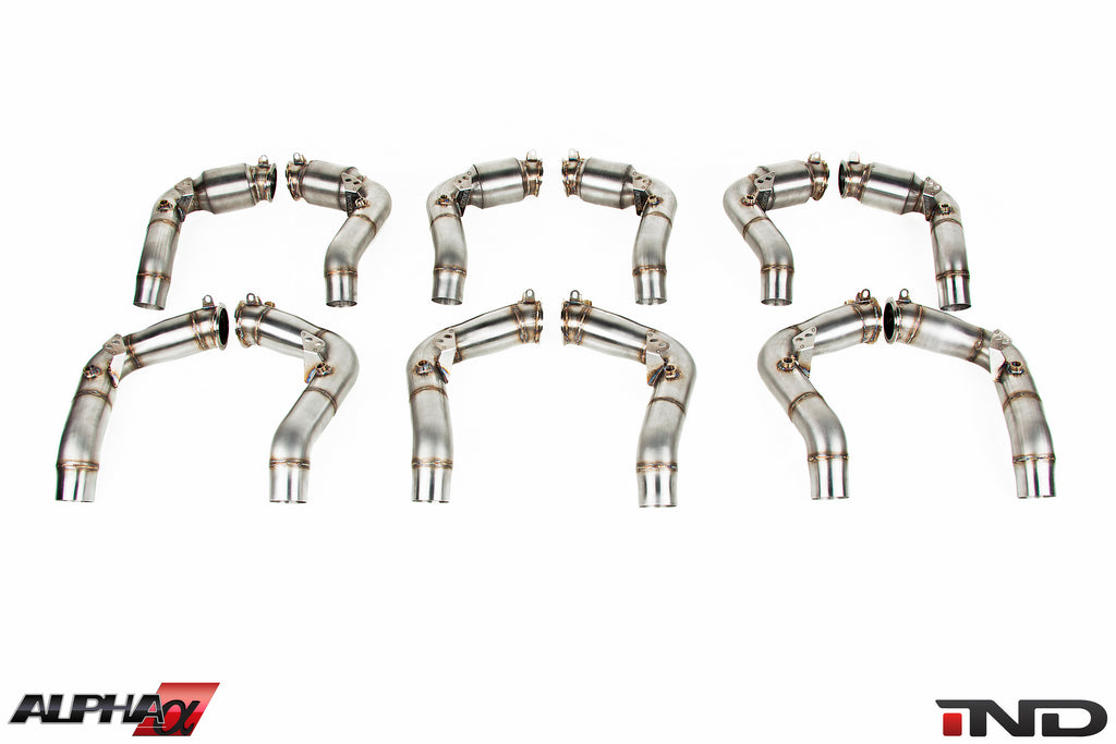 AMS Alpha S63TU Stainless Downpipes 7
