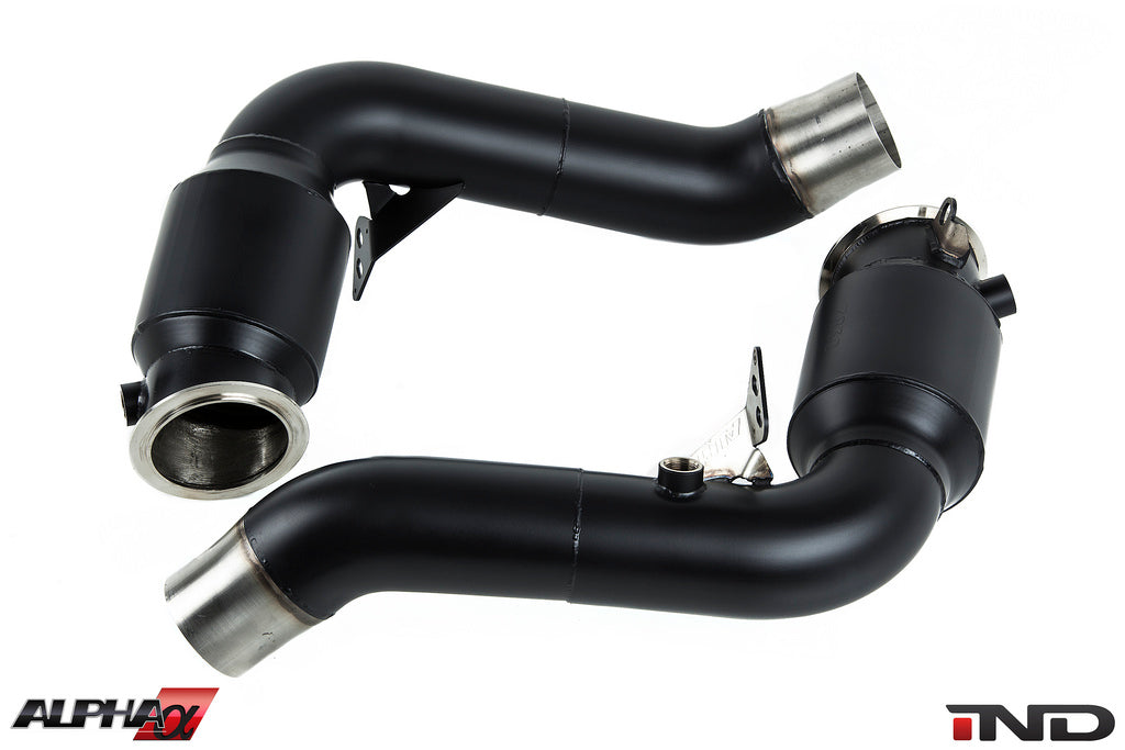 AMS Alpha S63TU Stainless Downpipes 6