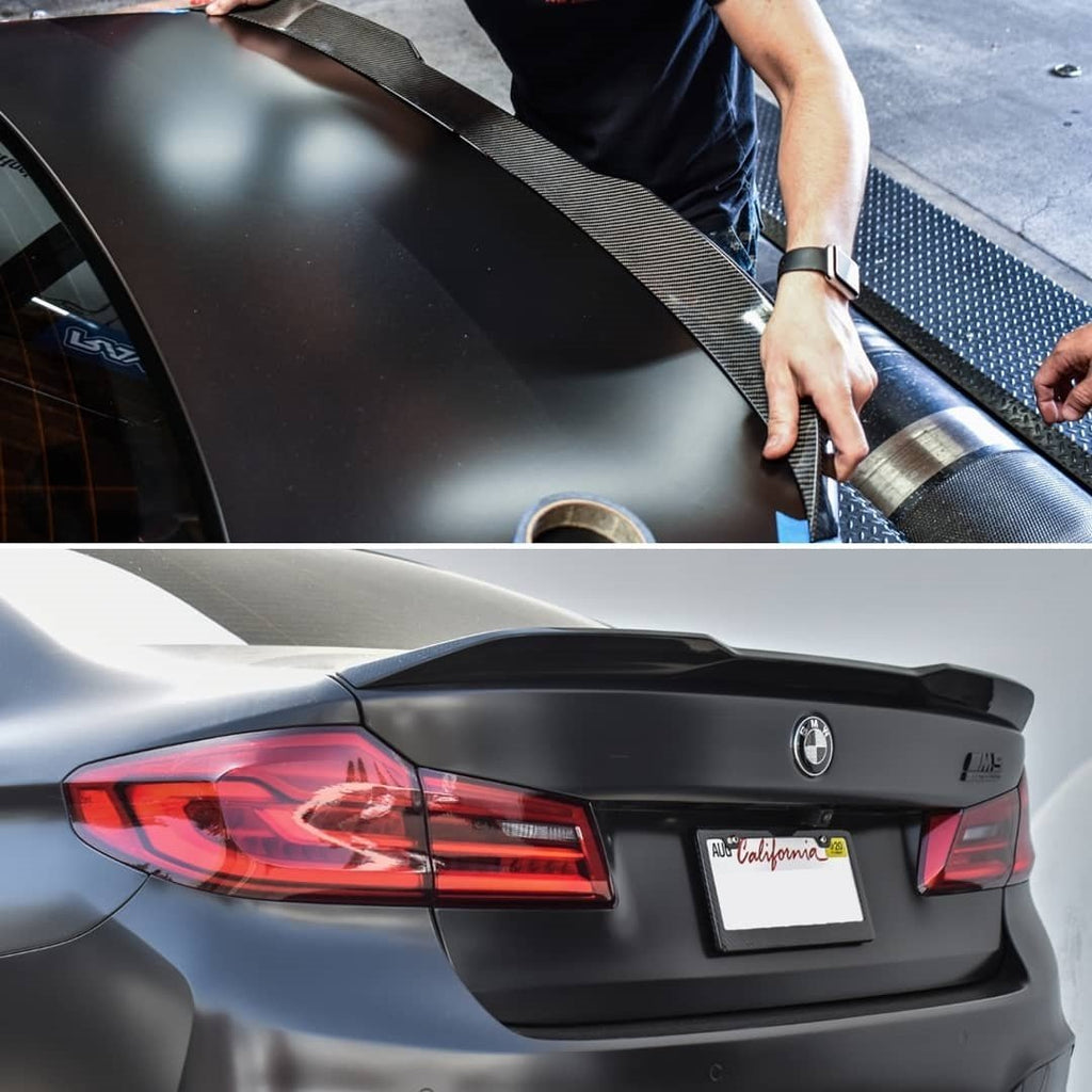 AutoTecknic F90 M5 / G30 5 Series Dry Competition Plus Carbon Trunk Spoiler - iND Distribution