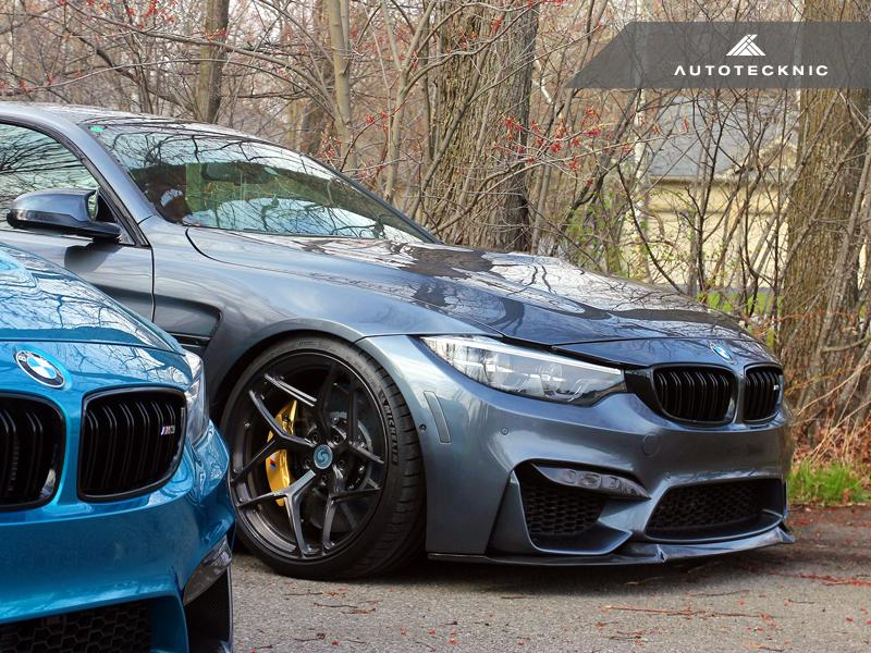 AutoTecknic f8x m3 m4 carbon competition front aero lip - iND Distribution
