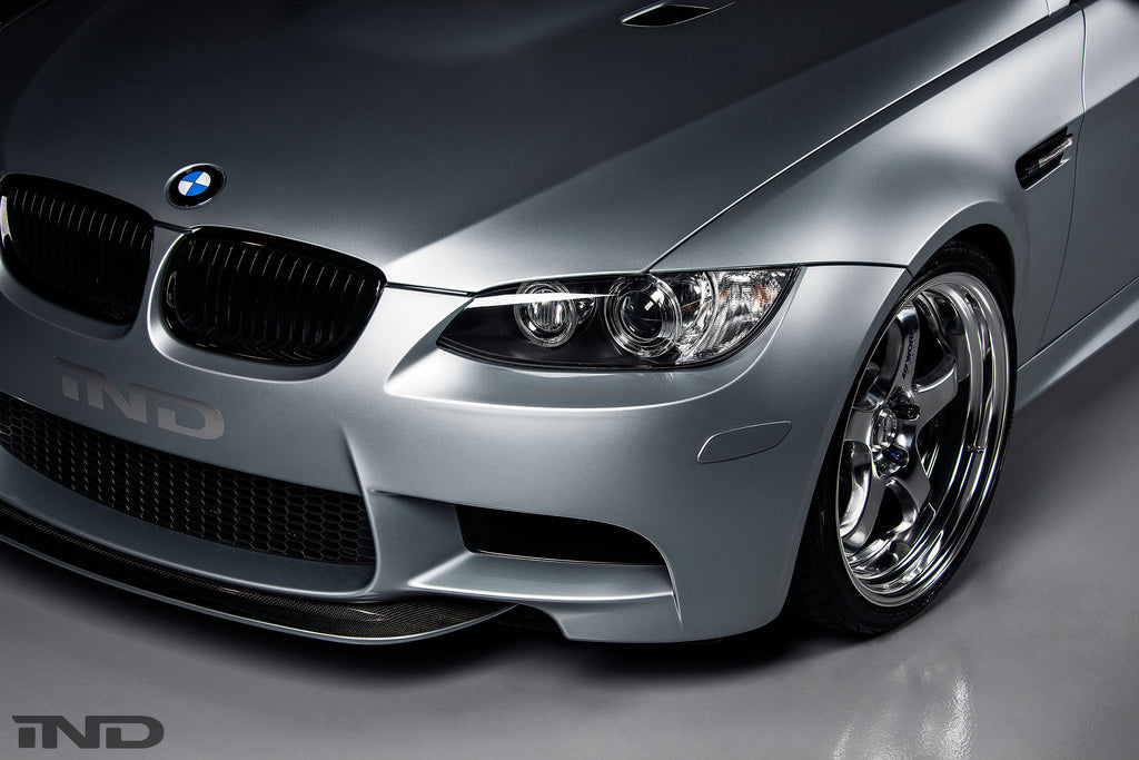 IND E9X M3 Painted Front Reflector in Silverstone Metallic Installed