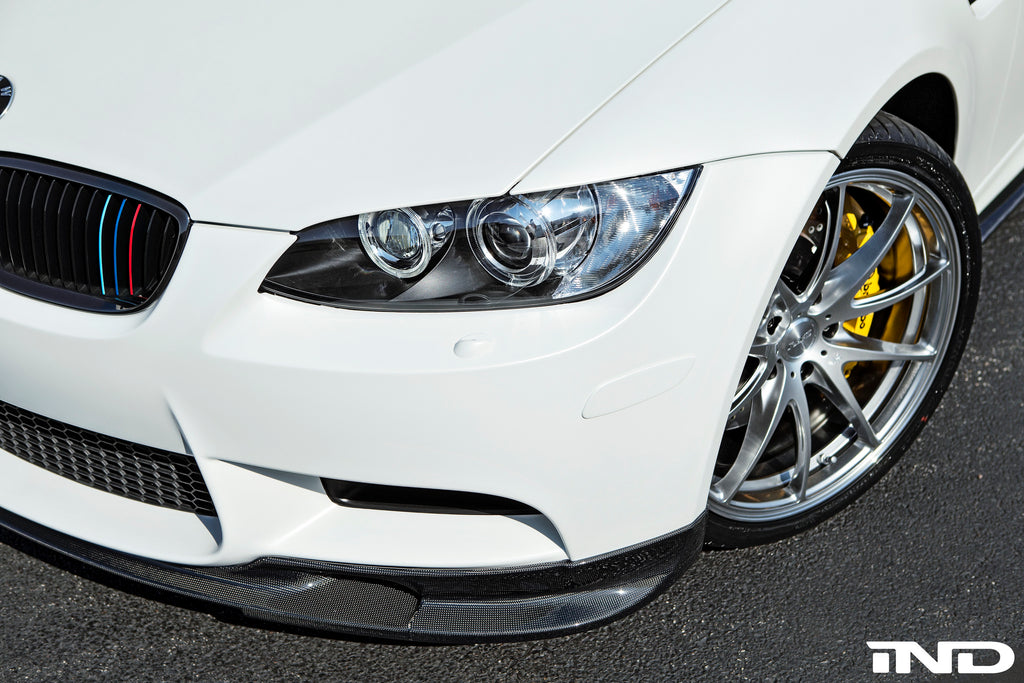 IND E9X M3 Painted Front Reflector Frozen White installed