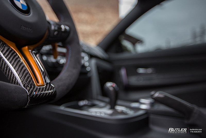 iND f82 m4 gts m Performance steering wheel trim - iND Distribution