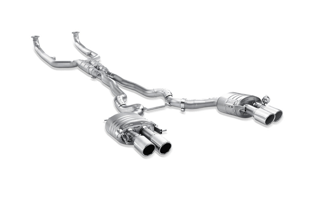Akrapovic f06 m6 evolution exhaust system w carbon tail pipe set titanium - iND Distribution