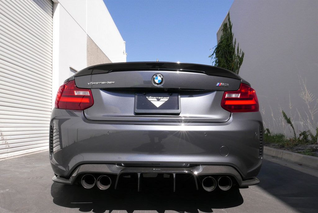 Vorsteiner bmw f87 m2 carbon trunk spoiler 2x2 - iND Distribution