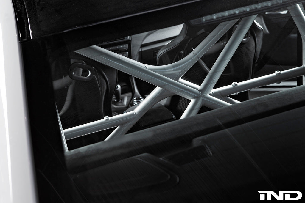 Top down view of roll bar inside BMW Moto GP F87 M2
