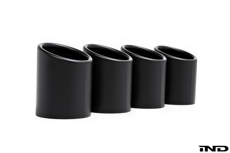 BMW f90 m5 matte black exhaust tips - iND Distribution