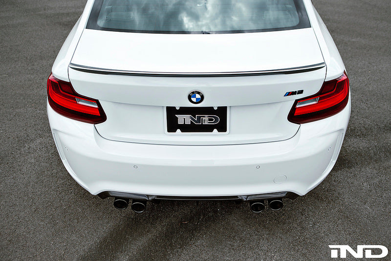 BMW M Performance F87 M2 Carbon Fiber Trunk Spoiler with Optional CRT Theme 6