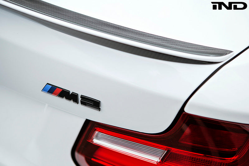 BMW M Performance F87 M2 Carbon Fiber Trunk Spoiler with Optional CRT Theme 3