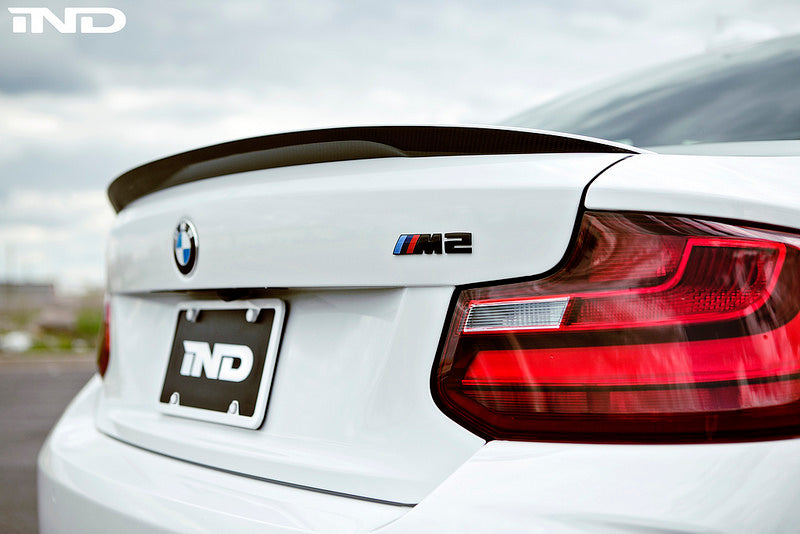 BMW M Performance F87 M2 Carbon Fiber Trunk Spoiler with Optional CRT Theme 4