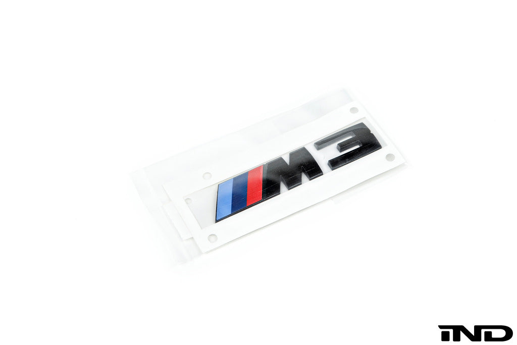 BMW OEM F80 M3 Gloss Black Competition Package Trunk Emblem 6