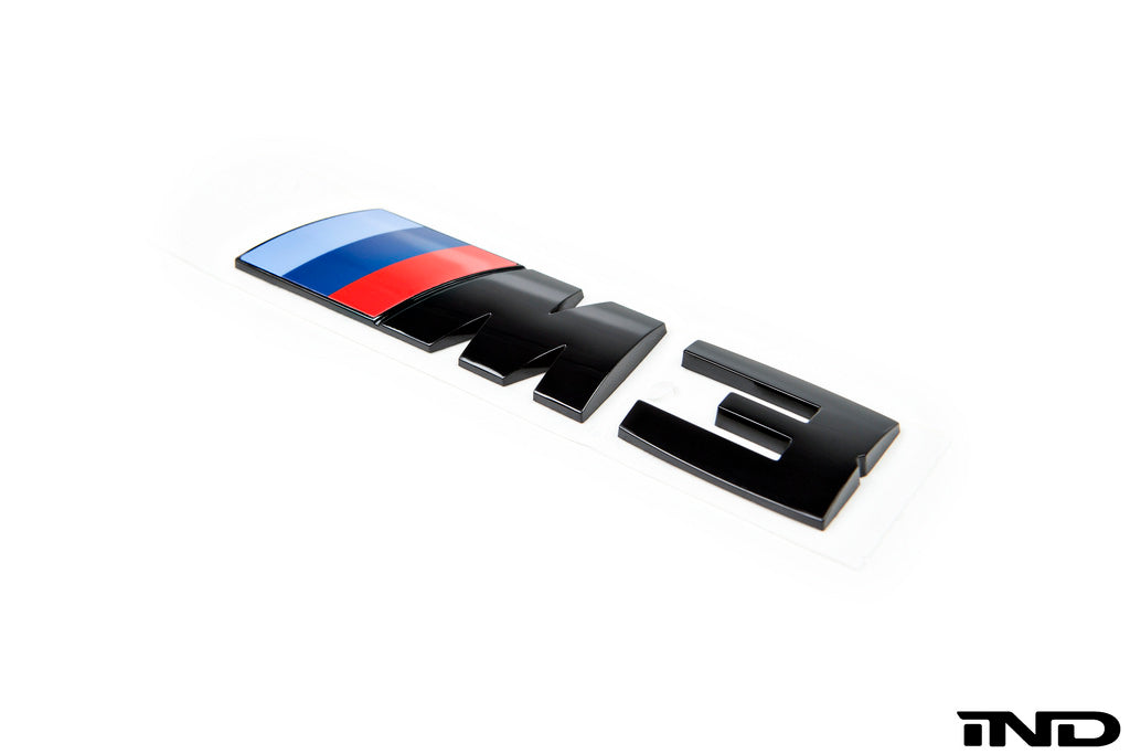 BMW OEM F80 M3 Gloss Black Competition Package Trunk Emblem 2