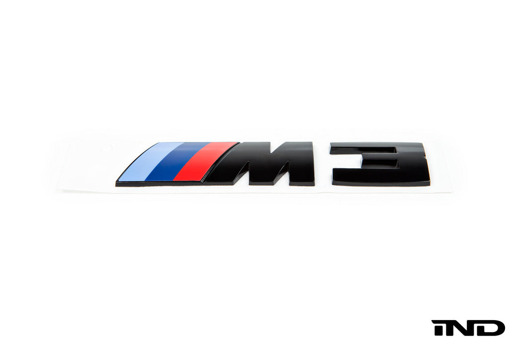 BMW OEM F80 M3 Gloss Black Competition Package Trunk Emblem 1