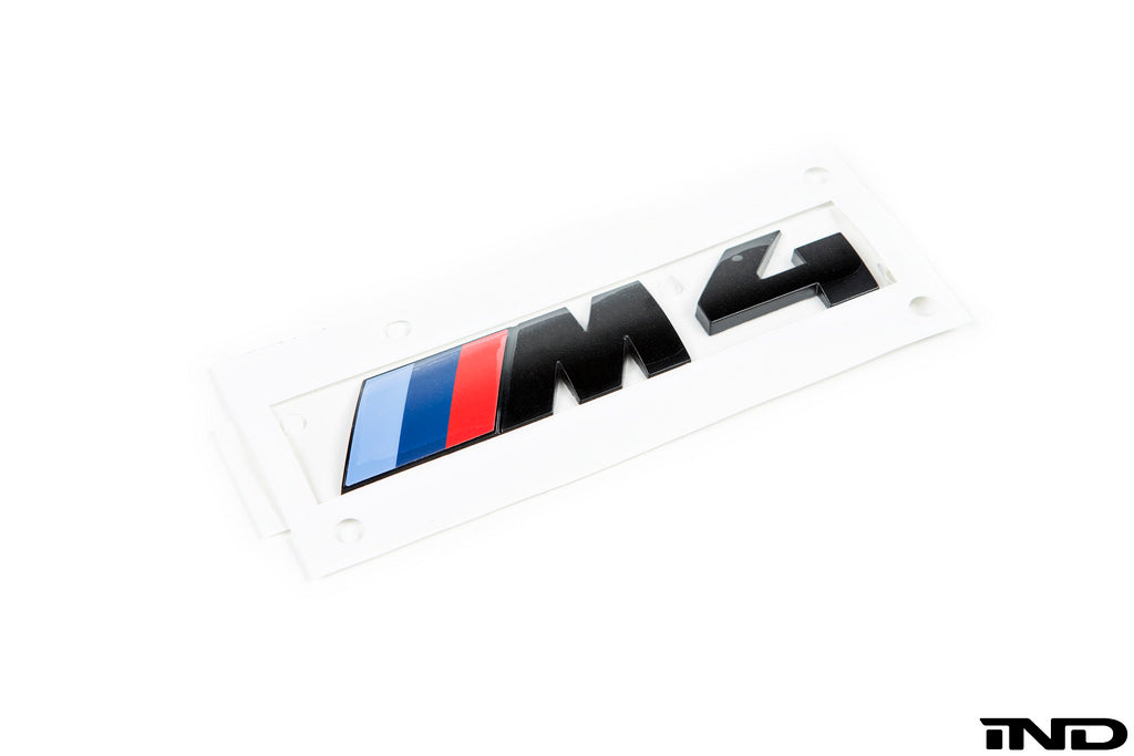 BMW OEM F82 M4 Gloss Black Competition Package Trunk Emblem 1