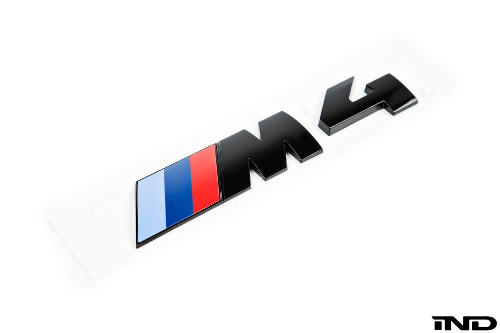 BMW OEM F82 M4 Gloss Black Competition Package Trunk Emblem 9