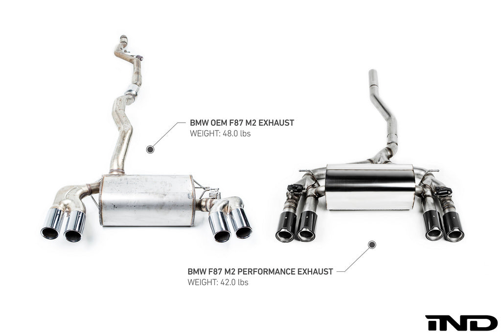 BMW m Performance f87 m2 exhaust system with bluetooth operated valve control - iND Distribution