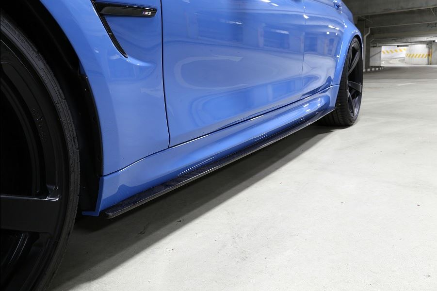 3D Design F80 M3 Carbon Fiber Side Skirt Set 3