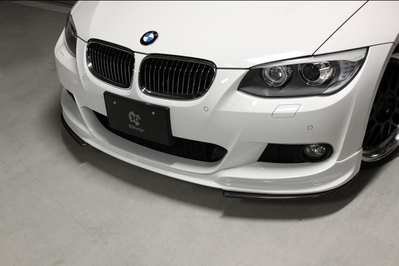 3d design e92 e93 m sport carbon fiber under splitters - iND Distribution