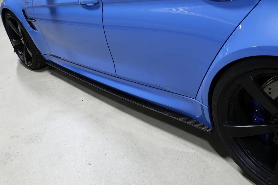 3D Design F80 M3 Carbon Fiber Side Skirt Set 1