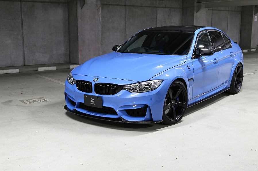 3d design f80 m3 carbon fiber side skirt set - iND Distribution