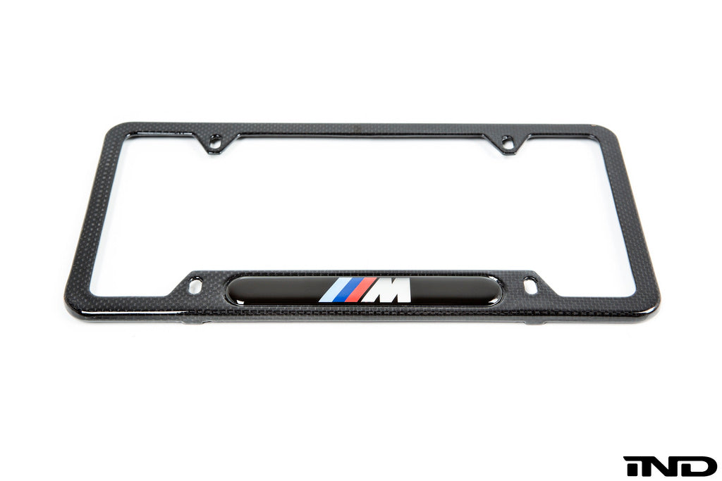BMW ///M Carbon Fiber License Plate Frame 1