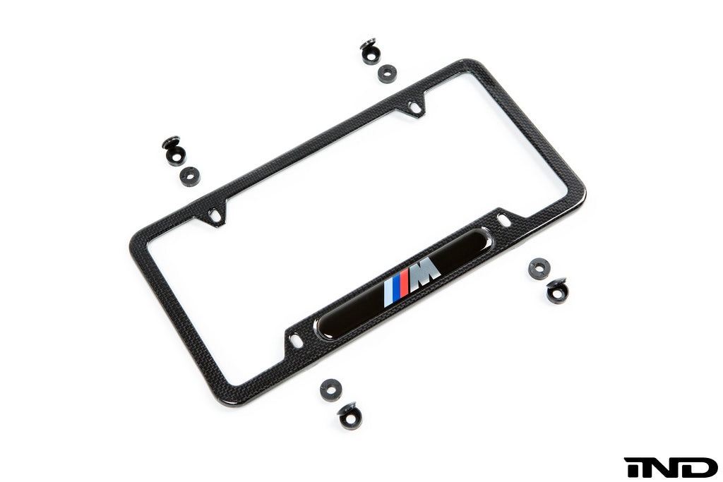BMW m carbon fiber license plate frame - iND Distribution