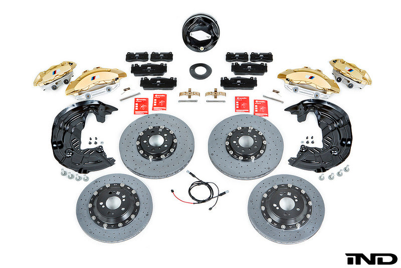 BMW f8x m3 m4 carbon ceramic brake retrofit kit - iND Distribution