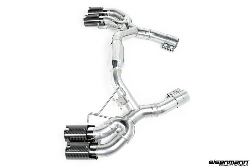Eisenmann f90 m5 race performance exhaust system with carbon tips - iND Distribution