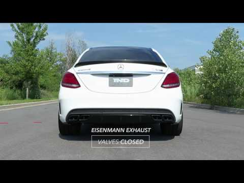 Eisenmann w205 c63 c63s performance exhaust with valve control - iND Distribution