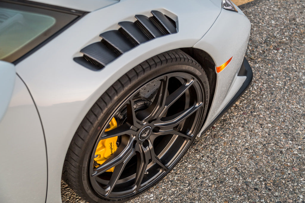 Vorsteiner huracan novara edizione carbon front fenders with integrated vent - iND Distribution