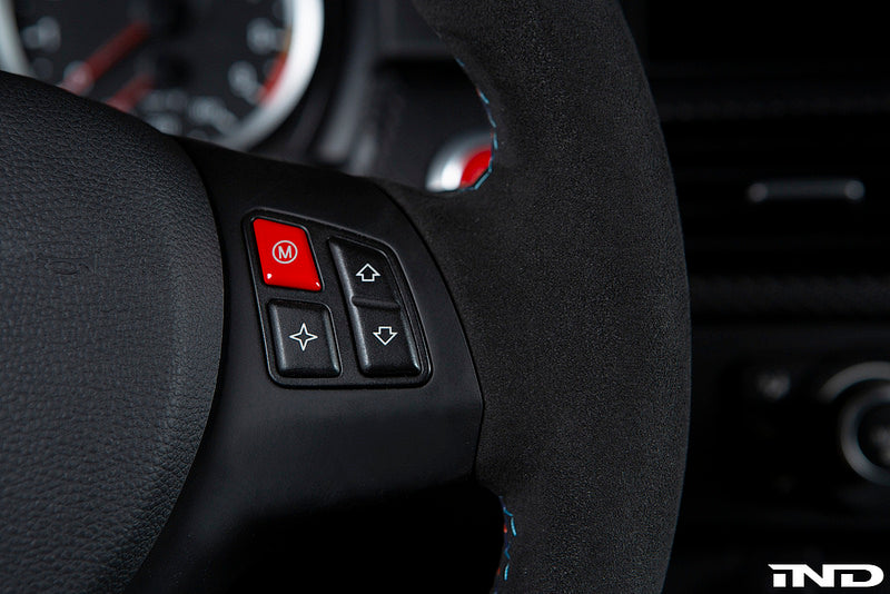 iND e9x m3 red m steering wheel button - iND Distribution