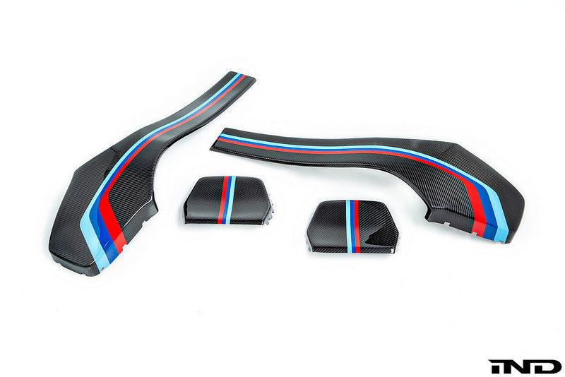 iND f80 m3 f82 m4 painted dry carbon fiber seat back cover set - iND Distribution