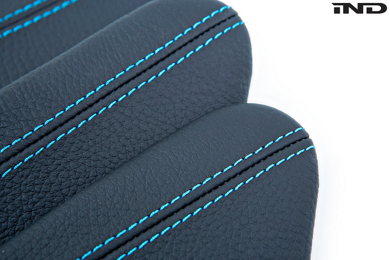 iND f87 m2 polar blue stitched leather knee pad - iND Distribution