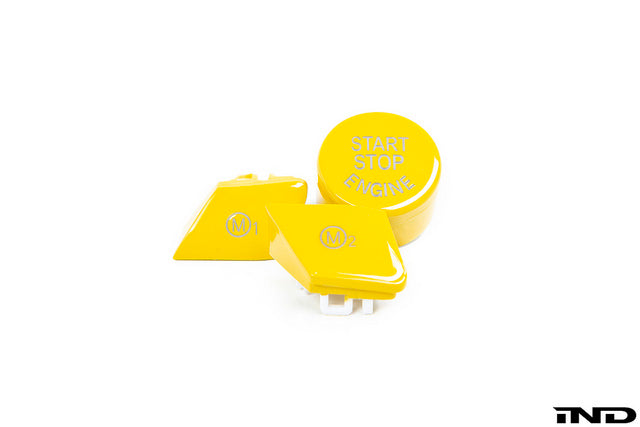 iND f8x m2 m3 m4 yellow m1 m2 steering wheel button set - iND Distribution