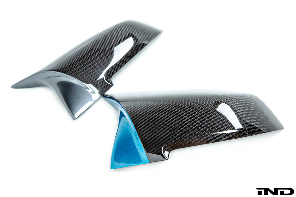 ind painted m inspired dry carbon mirror cover set - iND Distribution